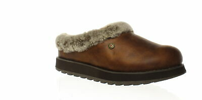 Bobs By Skechers Womens R E M Brown Mule Slippers Size 5 (Wide) (1473568) • 20.62£
