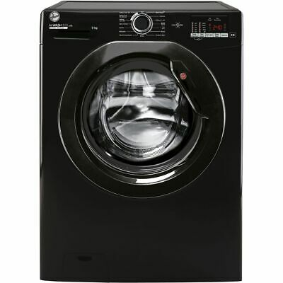 £279 • Buy Hoover H3W492DBBE/1 H-WASH 300 9Kg 1400 RPM Washing Machine Black D Rated New
