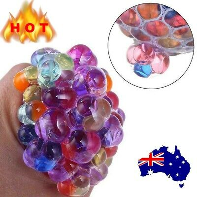 AU9.99 • Buy Squishy Mesh Ball Sensory Anti Stress Relief Abreaction  Grape Squeeze Toy