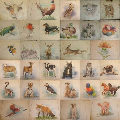 £2.60 • Buy 44 COUNTRY & EXOTIC ANIMAL CUSHION & BAG PANELS By Chatham Glyn - Cotton Fabric