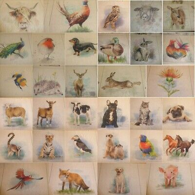 £2.60 • Buy COUNTRY ANIMAL CUSHION & BAG PANELS By Chatham Glyn - Cotton Fabric (33 Designs)