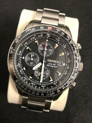 $ CDN271.77 • Buy Seiko Chronograph V172-0AC0 Alarm Chronograph Solar Authentic Men's Watch FedEx