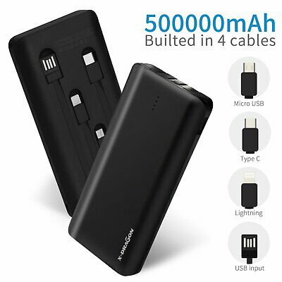 AU32.59 • Buy 500000mAh Portable Power Bank Pack Type C Lightning Fast Charge Battery Charger