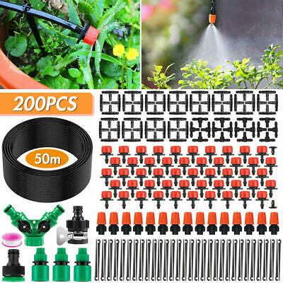 Garden Irrigation System With Timer 30M/50M Plant Watering Drip Irrigation Kits • 21.08£