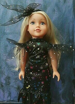 American Girl Our Generation 18inch Doll Clothes Gothic Blackmagic Witch Costume • 6.99£