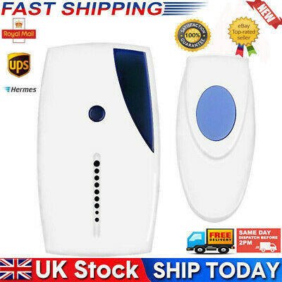 Wireless Door Bell 70M Range 36 Chime Cordless Portable Digital Battery Operated • 5.42£