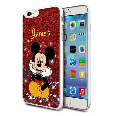Personalised Glitter DISNEY Mickey Mouse Phone Case Cover For Apple Samsung - 03 • 4.90£
