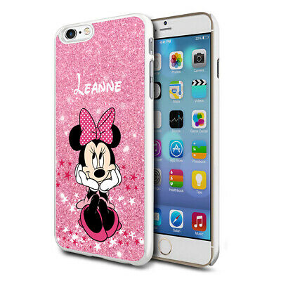 Personalised Glitter DISNEY Minnie Mouse Phone Case Cover For Apple Samsung - 02 • 4.90£