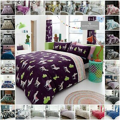 Duvet Cover With Pillow Case Quilt Cover Bedding Set Single Double King All Size • 11.99£