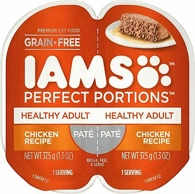 IAMS Perfect Portions Healthy Adult Grain Free Chicken Recipe Pate, 6-Twin Packs • 11.44£