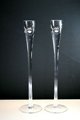£28.39 • Buy New Pair Of Crystal Calvin Klein Tula Single Candle Sticks 11-7/8