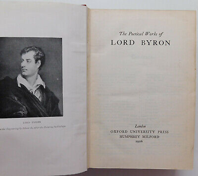 The Poetical Works Of Lord Byron Vintage 1920s Poetry Book Poems 1926 Don Juan • 25£