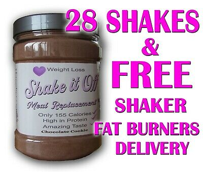 £32 • Buy 28 Meal Replacement Diet Shakes With Whey Protein -Weight Loss-VLCD-SHAKE IT OFF