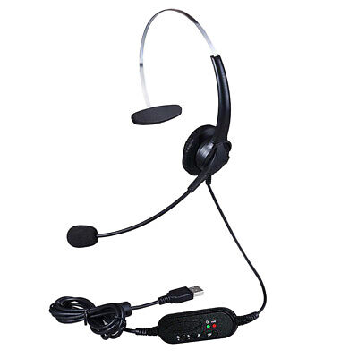 Call Center Customer Service Wired Headset Monaural Computer Headphones *DC • 10.15£