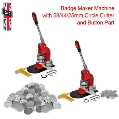 £36.39 • Buy Badge Maker Machine W/ 58/44/25mm Circle Cutter And Button Part Selectable New