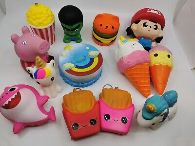 AU6.99 • Buy Squishy Squeeze Realistic Slow Rising Charms Collection Stress Relief Fun Toy Gi