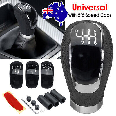 AU21.84 • Buy 3 Caps 5 6 Speed Car Gear Stick Shift Knob Lever Manual PU Leather Universal
