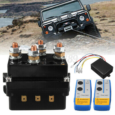 AU56.60 • Buy 12V 500A HD Electric Contactor Winch Solenoid Twin Wireless Remote Recover