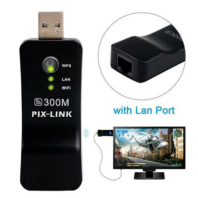 For Samsung Capable Smart TV LAN Adapter Network Wireless Dongle WiFi 300M RJ-45 • 10.98£