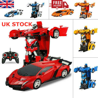 Transformer RC Robot Car Remote Control 2 IN 1 Kids Boys Toys Xmas Gift Toy UK • 11.99£