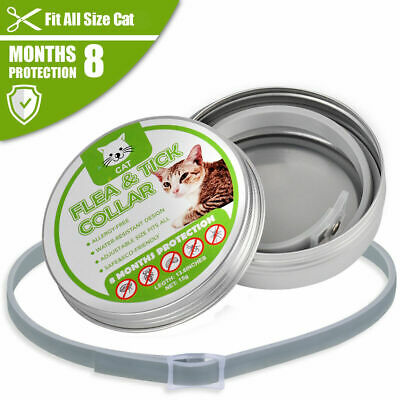 Adjustable Pet Anti Flea Tick Neck Collar For Cat Kitten 8 Months Protection • 3.68£