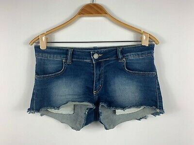 AU19.95 • Buy Y London Womens Shorts Size 12 With Pockets Very Short Length Blue Denim