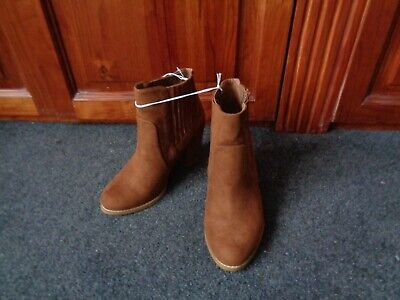 RED HERRING Ladies LEATHER Pull On Boots - UK 5 WIDE - Brand New With Tags • 25£
