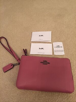 Coach Zip Around Double Wristlet Purse Dusky Pink New With Tags. • 39.99£