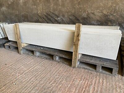 Smooth Concrete Gravel Boards/ Base Panels - New • 12£