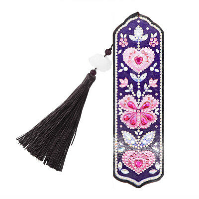£4.91 • Buy DIY Heart Butterfly Special Shaped Diamond Painting Bookmark Cross Stitch *DC