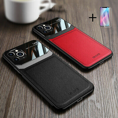 For IPhone 12 11 Pro XR X Max 8 Plus Hybrid Leather Protective Case Slim Cover • 4.99£