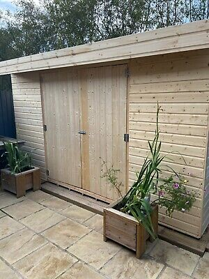 Wooden Garden Shed Pent Roof Shiplap Tongue And Groove Heavy Duty Floor & Roof  • 476£