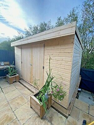 Pent Garden Shed Workshop Heavy Duty Shiplap Tongue & Groove 5-10 Days Delivery • 595£