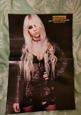 Taylor Momsen The Pretty Reckless / Rob Zombie A3 Kerrang! Poster Double... • 1.50£