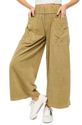 FREE PEOPLE Cosmic Ways Wide Leg Pants In Jasmine Size XS As Pictured • 19.99£