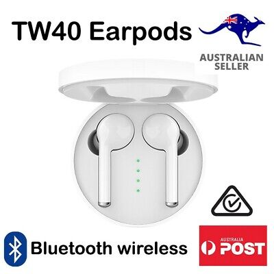 AU54.99 • Buy Bluetooth Wireless White Ear Pods TW40 Earbuds Earphones Android Apple