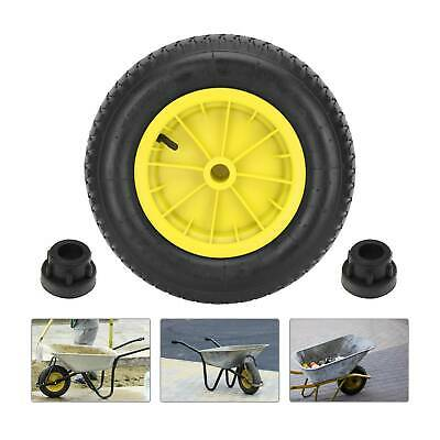 14  Yellow Wheelbarrow Wheel Choose Pneumatic Puncture Proof Tyre Solid 3.50-8 • 10.19£