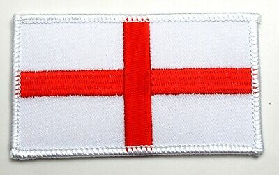 England Flag English St.George Cross Embroidered Sew On Patch 5cm X 9cm • 1.90£