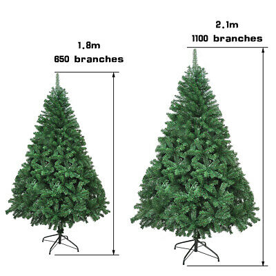 6ft/7ft Christmas Green Tree Artificial Bushy Xmas Tree With Metal Stand • 28.99£