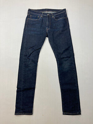 LEVI'S 519 SLIM Jeans - W34 L32 - Navy - Great Condition - Men's • 29.99£