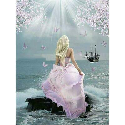5D DIY Full Drill Diamond Painting Pink Lady Cross Stitch Embroidery Mosaic *DC • 7.41£
