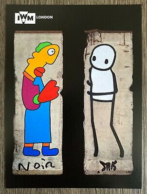 STIK And Thierry Noir Signed Postcard - Berlin Wall Imperial War Museum • 79.99£
