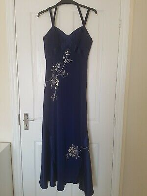 Pearce Ii Fionda Royal Blue Evening Dress Size 14 • 25£