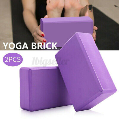 2PCS Yoga Pilates EVA Foaming Block Gym Fitness Brick Stretch Sport Exercise UK • 5.99£