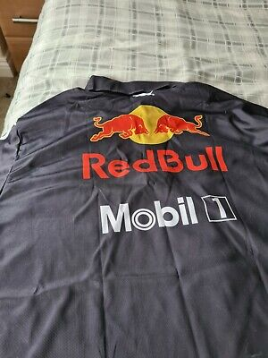 NEW OFFICIAL RED BULL Racing Aston Martin F1 MENS Team T-Shirt Tee - Size Med • 13.70£