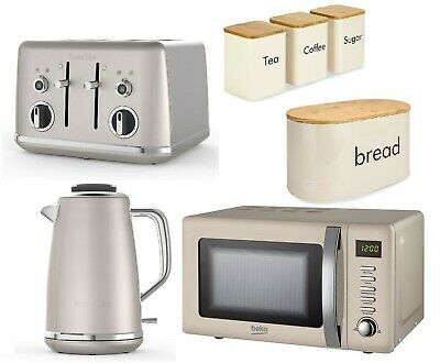Cream Kitchen Set Microwave Beko With Matching Kettle And Toaster Breville CHEAP • 249.99£