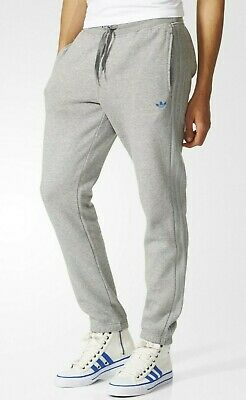 Mens Adidas Originals Track Sweat Pants Tracksuit Bottoms Joggers - Grey - Small • 10.50£