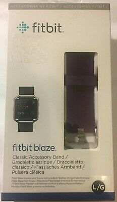 $ CDN16.16 • Buy Genuine Fitbit Replacement Band BLAZE Accessory Classic Leather Plum Large NEW