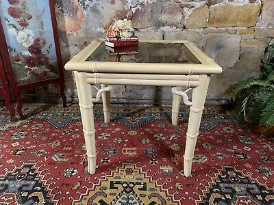 AU15 • Buy Vintage Chippendale Supper Table~Hollywood Regency~Bamboo Design~Rare