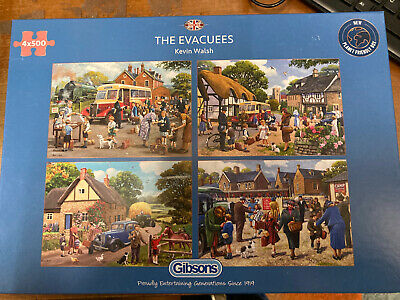 Gibson's The Evacees Jigsaw Puzzle 4x500 (G5056) • 5.50£